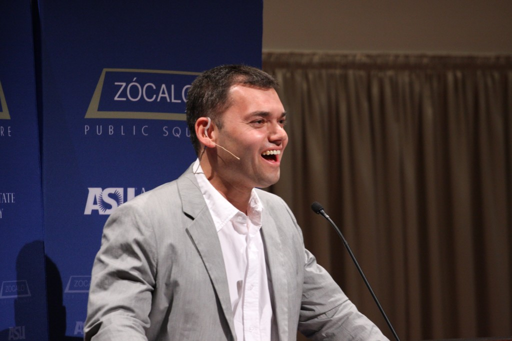 Peter Beinart speaking in Phoenix, May 21, 2012. Photo: Zócalo Public Square / flickr
