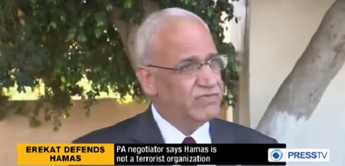 Erekat embraces Hamas