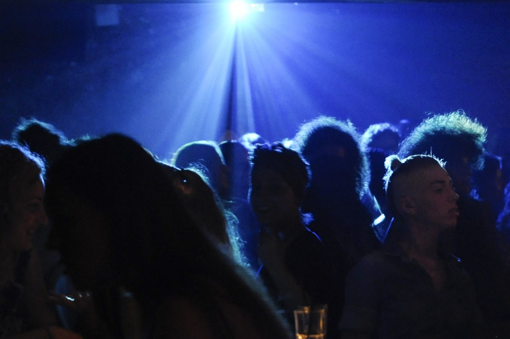 Israelis dance at the Bootleg Club in central Tel Aviv. Photo: Zuzana Janku / Flash90