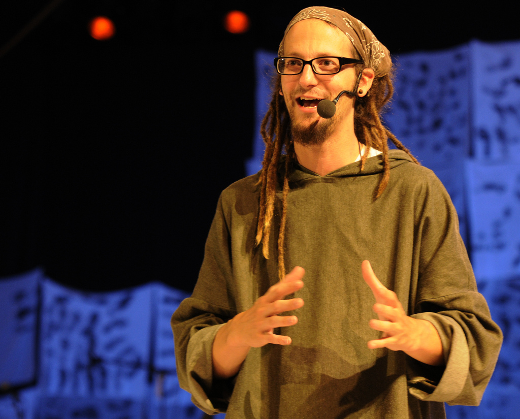 Shane Claiborne, a prominent Evangelical leader and pro-Palestinian activist. Photo: Lars Verket / flickr