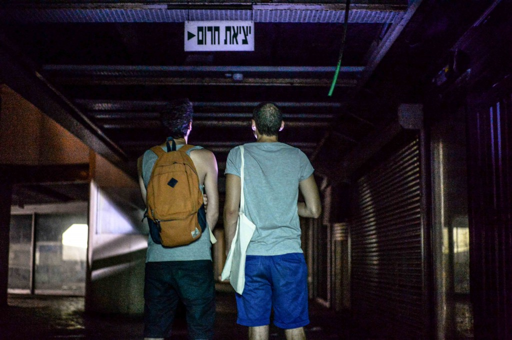 Elad Horn and Matthew Schultz descend into the bowels of the Station. Photo: Aviram Valdman / The Tower