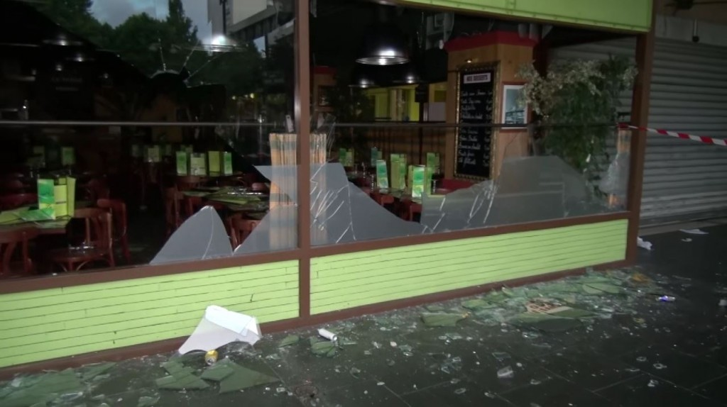 Damage from the Sarcelles pogrom. Photo: Line Press / YouTube