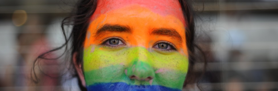 A member of the Israeli gay community participates the annual Gay Pride Parade in Tel Aviv, June 07, 2013. Photo: Gili Yaari / Flash 90