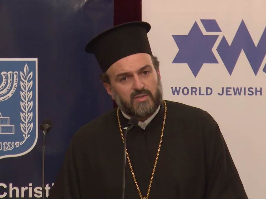 Father Gabriel Naddaf of Nazareth, an Arab-Israeli Greek Orthodox priest, has issued a call to Arab Christians to serve in the IDF and integrate into Israeli society. Photo: ShalomYerushalayim1 / YouTube