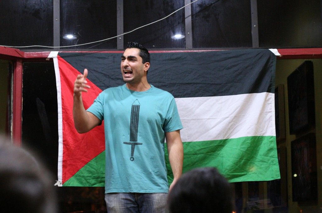 Poet Remi Kanazi is a popular speaker at SJP events. Photo: Daniela Kantorova / flickr