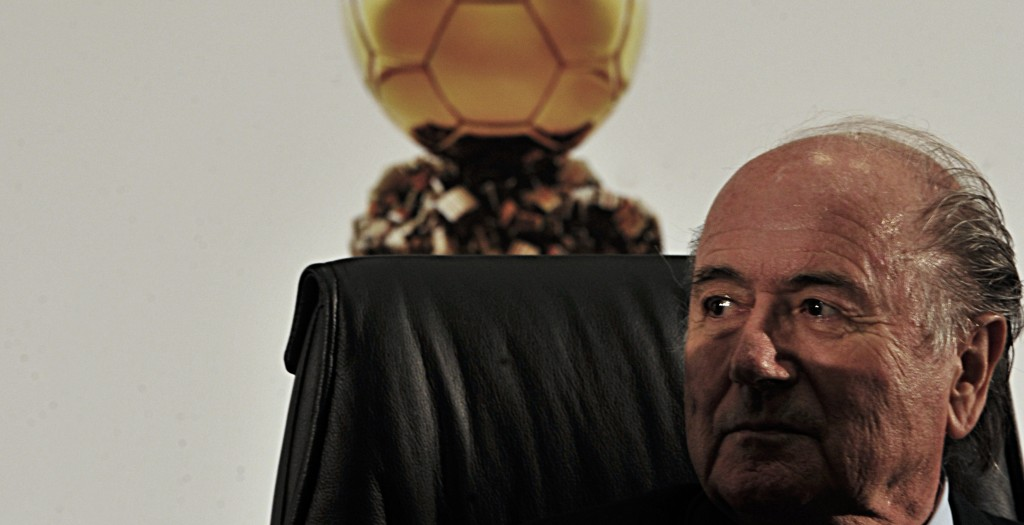 "When asked whether gay soccer fans would be welcomed at the 2022 World Cup in Qatar, where homosexuality is illegal, FIFA President Sepp Blatter said that gay fans ""should refrain from any sexual activities."" Photo: Agência Brasil / Wikimedia"