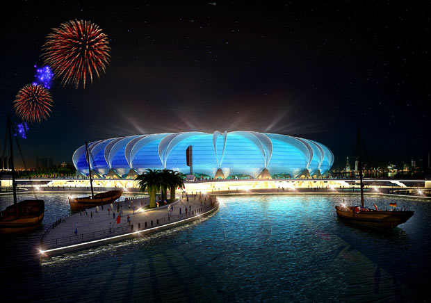 Artist's rendition of the Doha Port Stadium. Photo: TheBigJagielka / Wikimedia