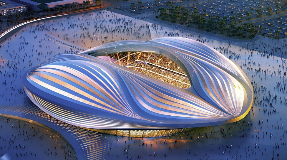 The design of Al-Wakrah Stadium, a planned stadium for the 2022 FIFA World Cup. Photo: AFP / Getty Images