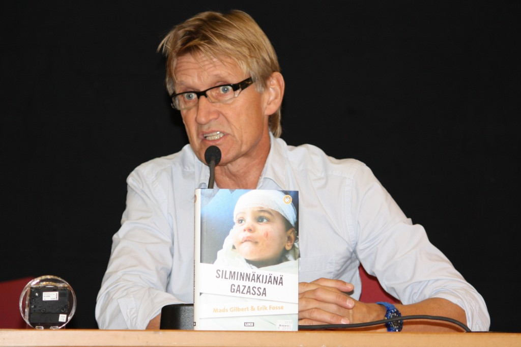 Dr. Mads Gilbert, a signatory to the letter in The Lancet, has compared Israel to the Nazis and has expressed sympathy for the 9/11 terrorists. Photo: Annelis / Wikimedia