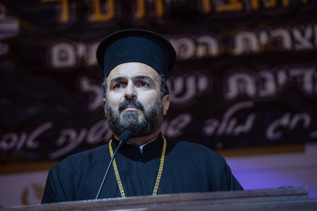 Father Gabriel Naddaf. Photo: Aviram Valdman / The Tower
