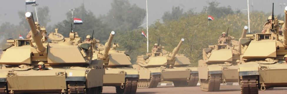 Iraqi forces display vehicle and aircraft capabilities during the Iraqi Army Day celebration in the International Zone, Iraq, January 6, 2011. Photo: Daneille Hendrix / U.S. Army / Wikimedia