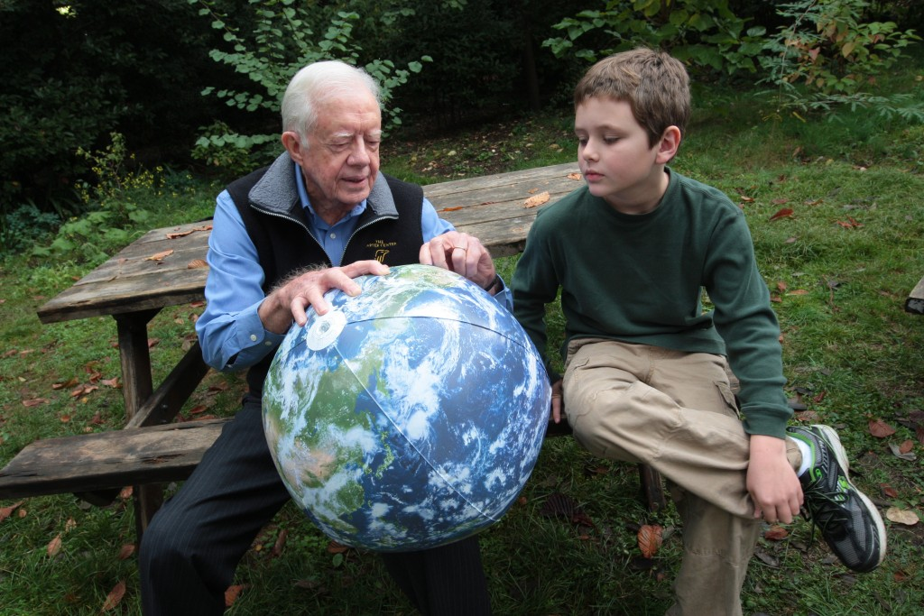 Jimmy Carter with his ten-year-old grandson. Photo: The Elders / flickr