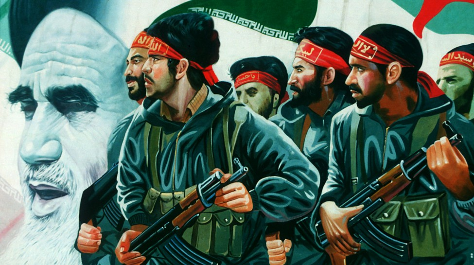A mural in Tehran depicting Ayatollah Ruhollah Khomeini and Iranian soldiers. Photo: Neil Hester / flickr