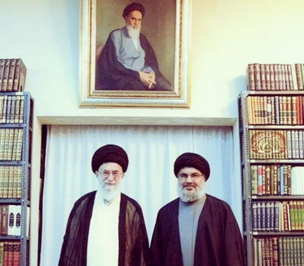 An undated photo of Ayatollah Ali Khamenei meeting with Hezbollah leader Hassan Nasrallah. Photo: Iftikh / flickr