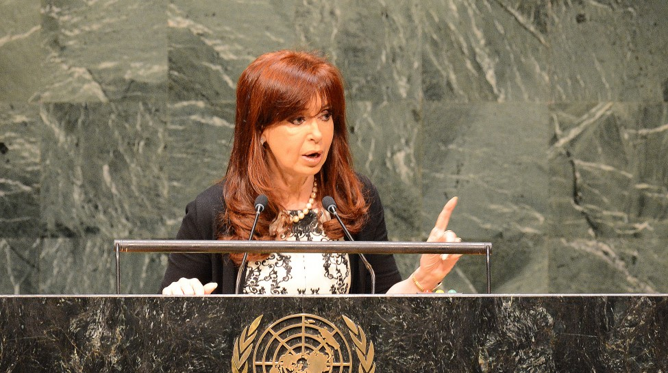 Argentine President Cristina Fernández de Kirchner speaks at the UN General Assembly, September 24, 2014. Photo: Presidencia de la Nación Argentina / Wikimedia