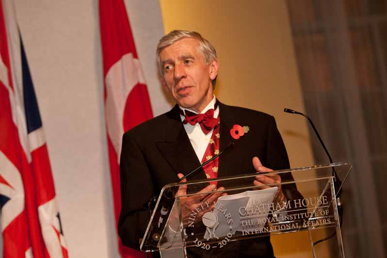 Former UK Foreign Secretary Jack Straw delivers a lecture at Chatham House. Photo: Chatham House / Wikimedia