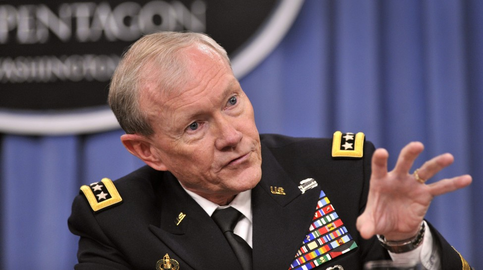 Chairman of the Joint Chiefs of Staff Gen. Martin E. Dempsey answers a question at a press conference in the Pentagon, May 10, 2012. Photo: Glenn Fawcett / Department of Defense / Wikimedia