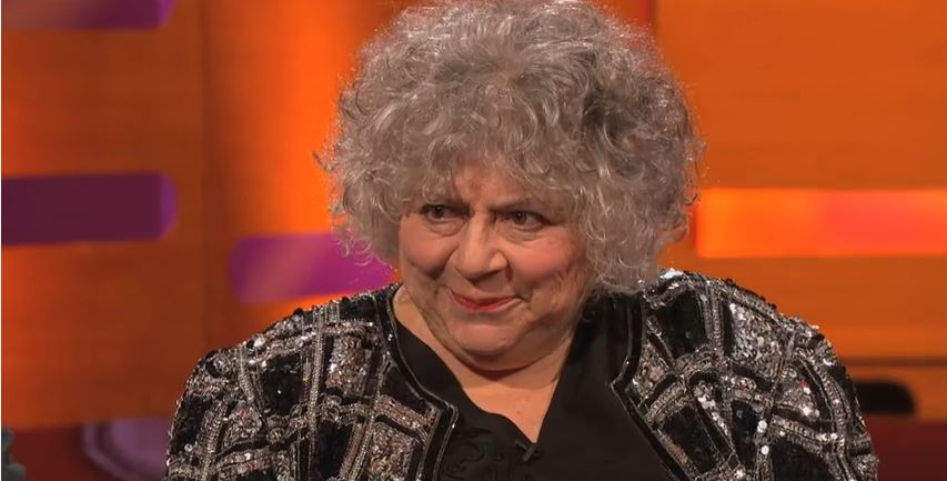 British actress Miriam Margolyes is a signatory to the Artists for Palestine boycott statement. Photo: BBC / YouTube