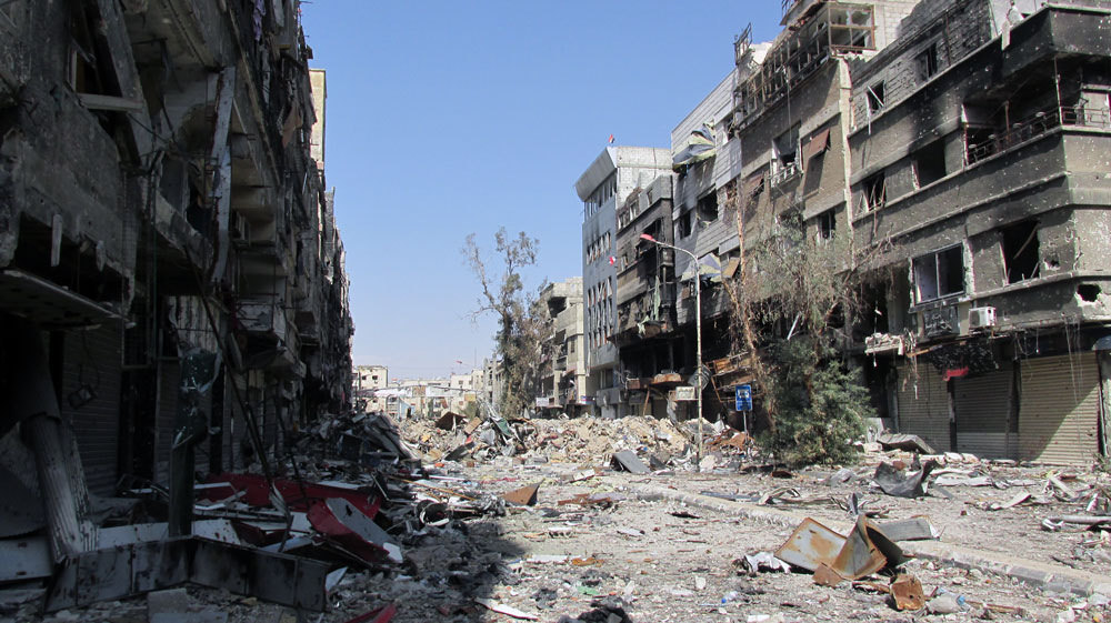 The ruins of Yarmouk, February 2014. Photo: UNRWA / flickr