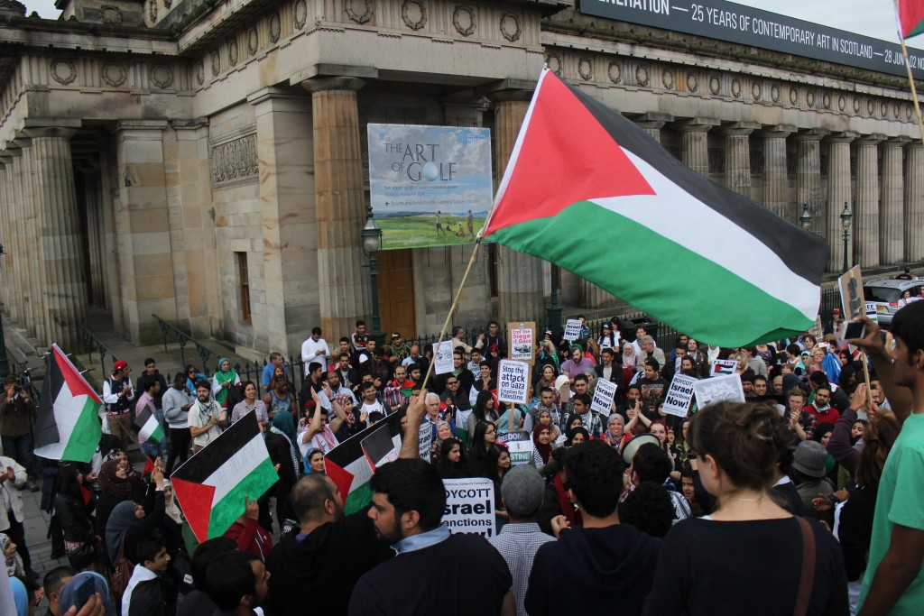 An pro-Palestinian rally in Edinburgh, July 12, 2014. Photo: Ric Lander / flickr