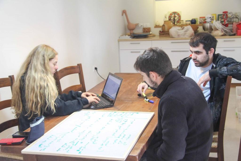 Maya Kosover, Yochai Maital and Dor Danino at the planning session for season three of Israel Story. Photo: Ro'ee Gilron