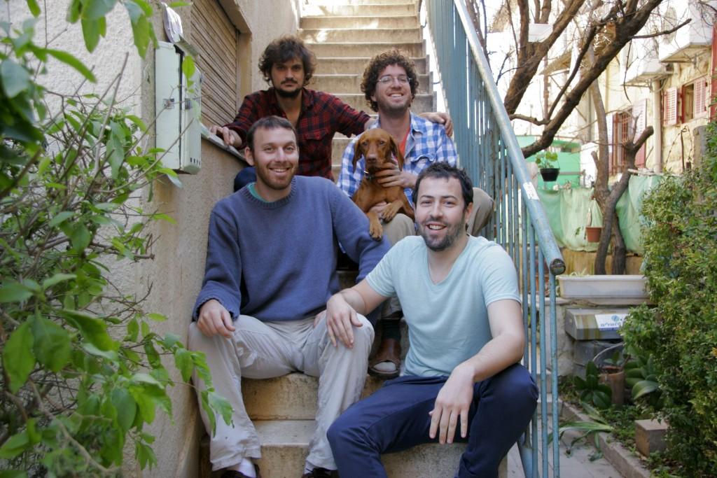 The four creators of Israel Story (clockwise from top left): Yochai Maital, Mishy Harman, Shai Shatran and Ro'ee Gilron. Photo: Israel Story