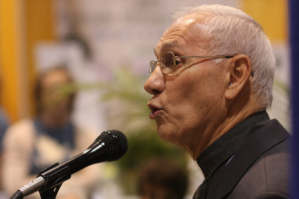 Rev. Dr. Naim Ateek, the founder of Sabeel. Photo: GC Media Hub 09 / flickr
