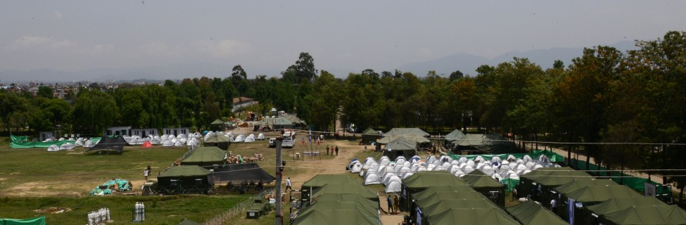 The Israeli field hospital in Nepal. Photo: IDF / Flash90