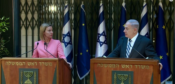 FeaturedImage_2015-05-26_111327_YouTube_PM_Netanyahu_EU_Mogherini