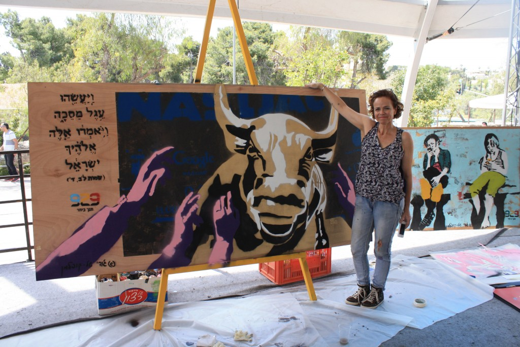 929 commissioned numerous pieces of graffiti art from artist Judy Koppen Mantal, including this rendering of the Golden Calf. Photo: Erik Kopelman