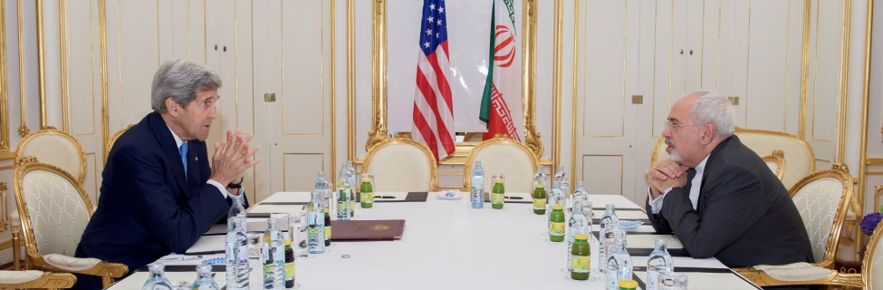 U.S. Secretary of State John Kerry sits across from Iranian Foreign Minister Javad Zarif on June 30, 2015, in Vienna, Austria, before a one-on-one meeting amid negotiations about the future of Iran's nuclear program. Photo: U.S. Department of State / flickr