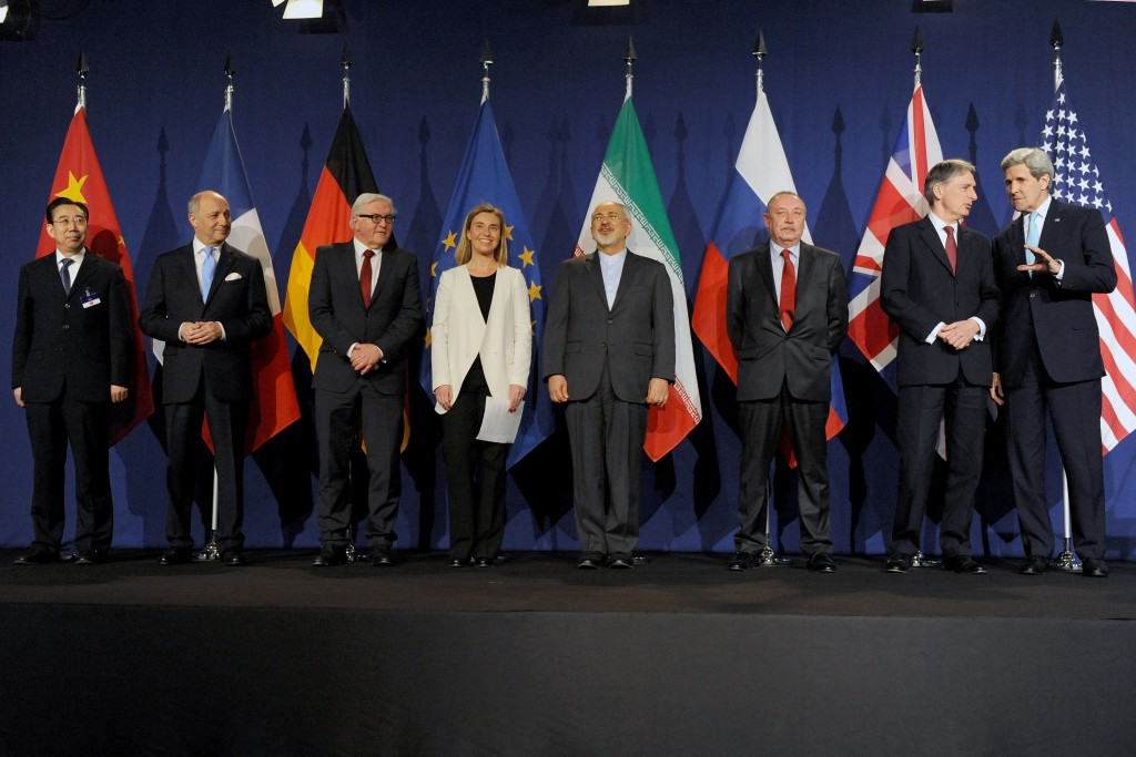 The foreign ministers of the P5+1 countries, Iran, and the European Union pose in Lausanne, Switzerland, April 2, 2015. Photo: European External Action Service / flickr