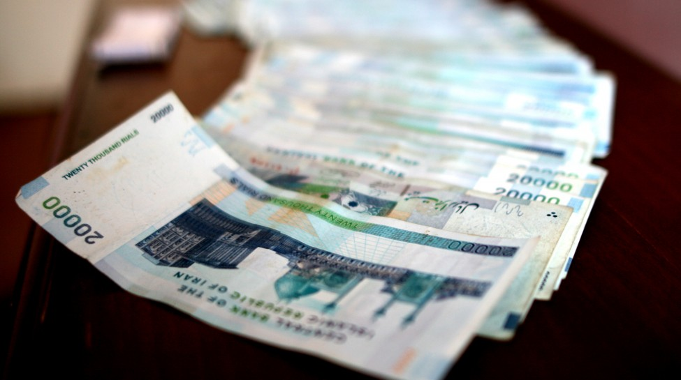 A stack of 20,000 rial bills. Photo: Bastian / flickr