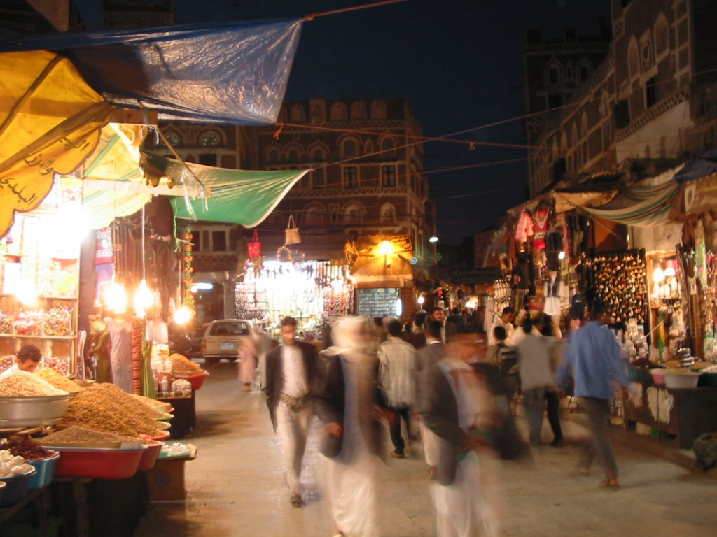 A market in Sana'a, Yemen's capital city. Photo: YXO / flickr
