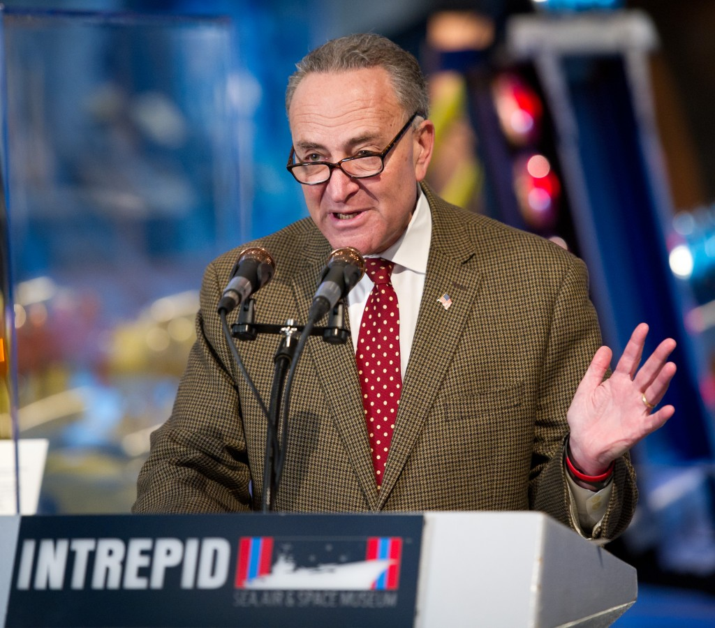 Sen. Charles Schumer, D-N.Y.,Photo: (NASA/Bill Ingalls)