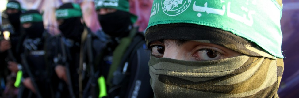 Members of the marine unit of the al-Qassam Brigades, the armed wing of the Iran-backed terrorist organization Hamas, take part in an anti-Israel parade in Rafah, Gaza, July 13, 2015. Photo: Abed Rahim Khatib / Flash90