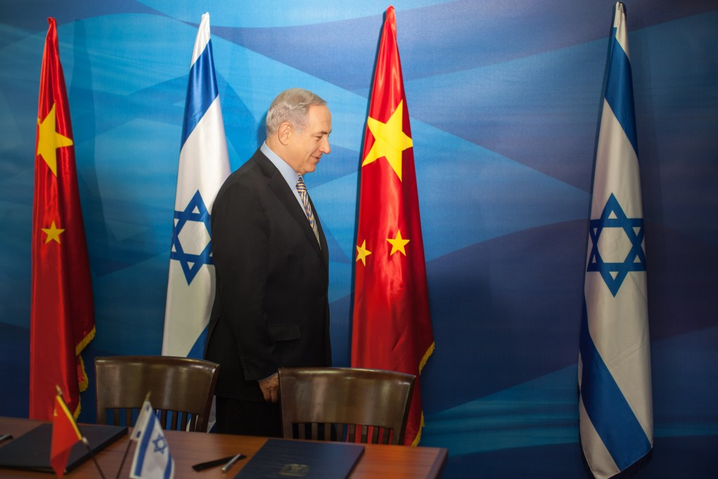 Israeli Prime Minister Benjamin Netanyahu arrives for a meeting with Chinese Vice Premier Liu Yandong in Jerusalem, May 19, 2014. Photo: Emil Salman / Flash90