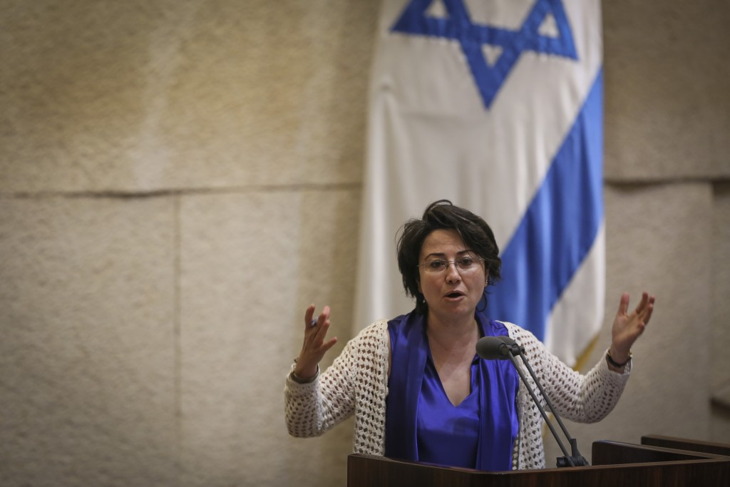 Joint Arab List MK Hanin Zoabi speaks during a Knesset plenary session, May 6, 2015. Photo: Hadas Parush / Flash90