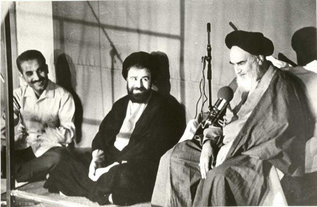 Ayatollah Ruhollah Khomeini speaks.