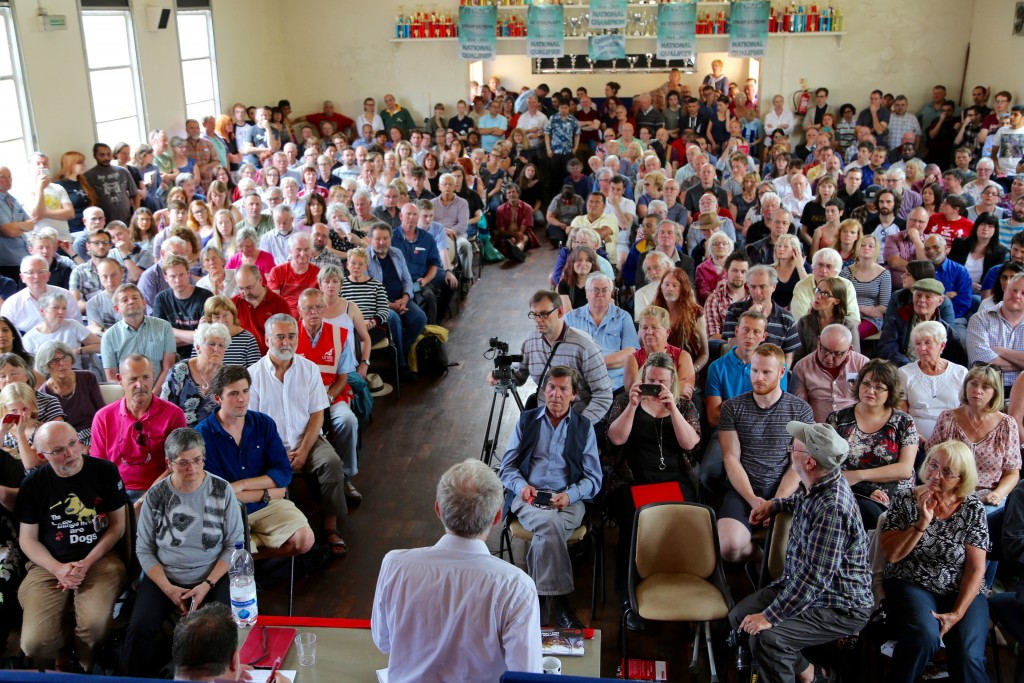 Jeremy Corbyn speaks to supporters in Coventry, August 2, 2015. Photo: Ciaran Norris / flickr
