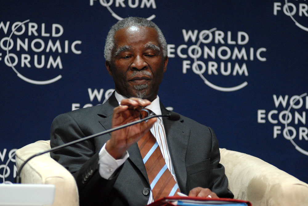 South African President Thabo Mbeki speaks at the 2008 World Economic Forum on Africa. Photo: Eric Miller / World Economic Forum / flickr