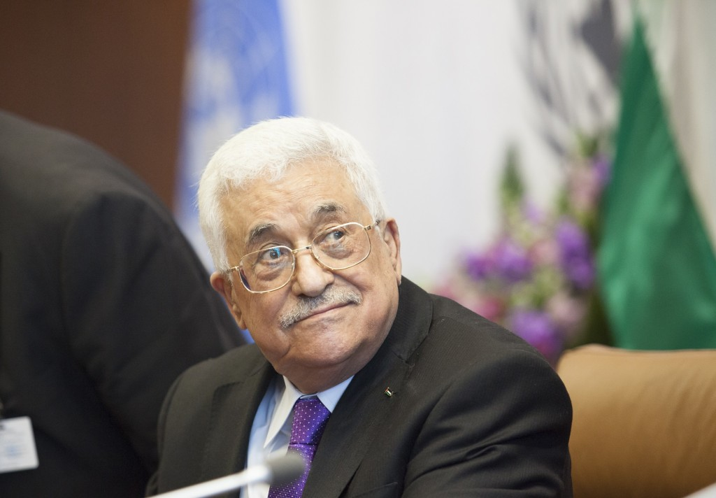 Palestinian Authority President Mahmoud Abbas waits to speak at the United Nations headquarters in New York, September 30, 2015. Photo: Amir Levy / Flash90