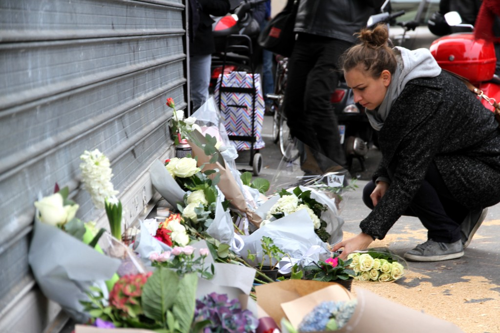 A memorial outside Le Petit Cambodge, the restaurant that was hit as part of a series of terror attacks in Paris the previous day. Photo: Maya-Anaïs Yataghène / flickr