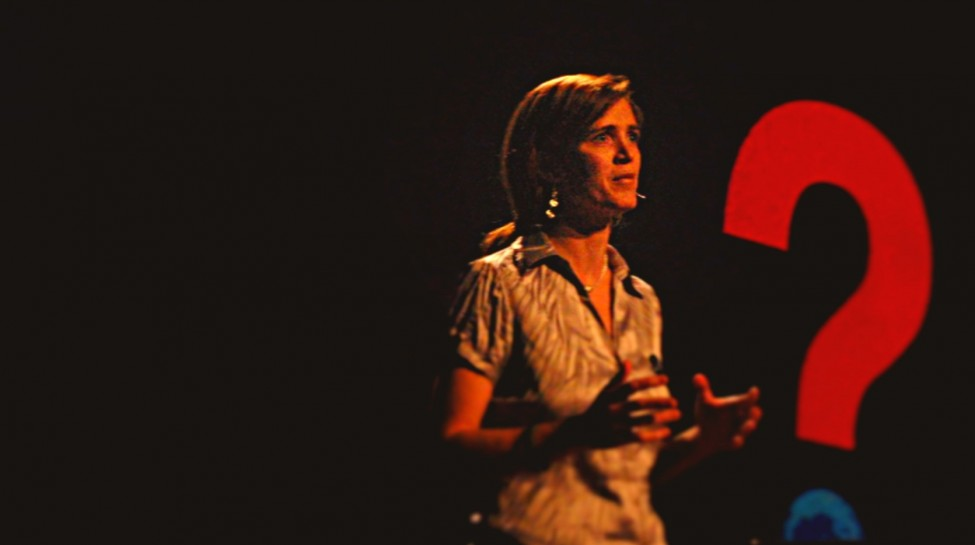 Samantha Power speaks at the 2008 TED Conference. Photo: Red Maxwell / flickr