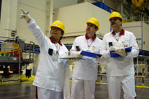 IAEA inspectors participate in a training exercise in Slovakia. Photo: Dean Calma / IAEA / flickr