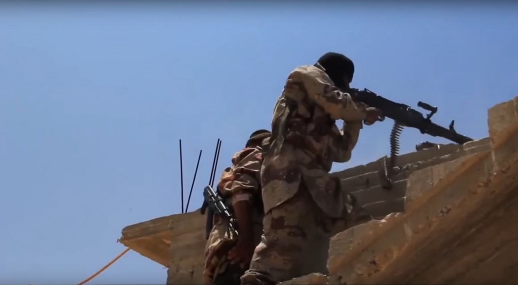 Fighters from ISIS's Sinai branch. Photo: CNN / YouTube