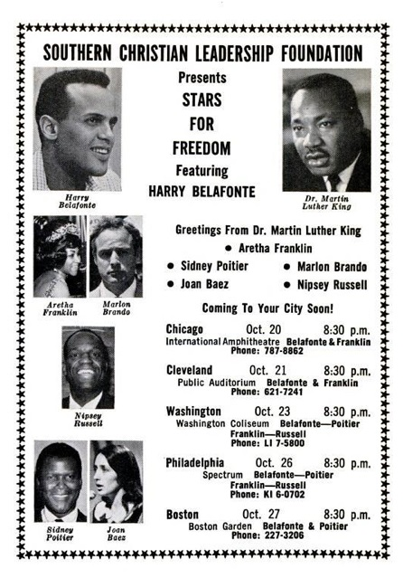 Martin Luther King criticized anti-Zionism at a benefit concert for the Southern Christian Leadership Conference.