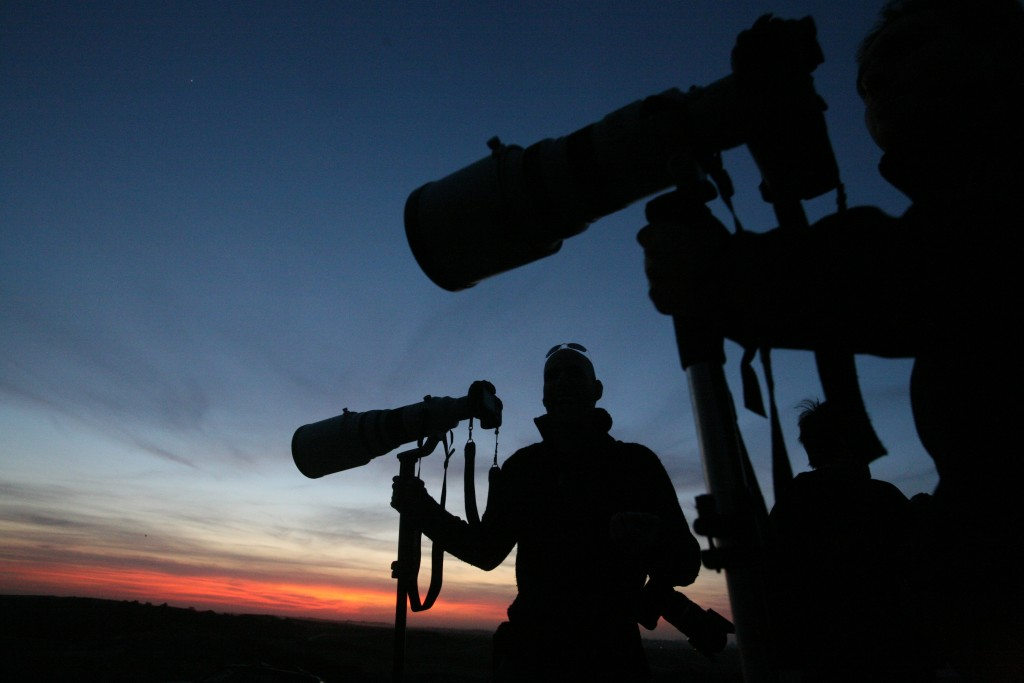 Israeli photographers on the Israel-Gaza border, January 14, 2009. Photo: Yossi Zamir / Flash90