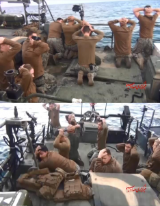 U.S. sailors detained by Iran in the Persian Gulf [Amichei Stein / Twitter]