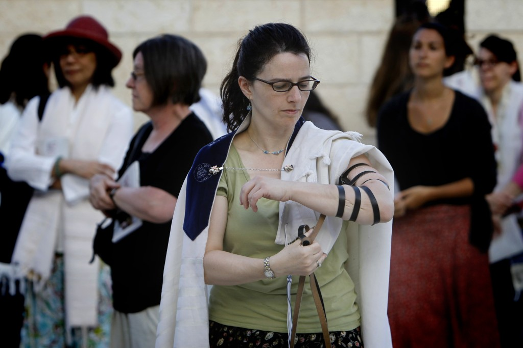 Women of the Wall pray at the Western Wall, June 29, 2014. Photo: Miriam Alster / Flash90
